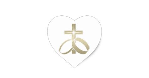 Wedding Rings With Crosses by Gold Wedding Rings And Cross Sticker Zazzle