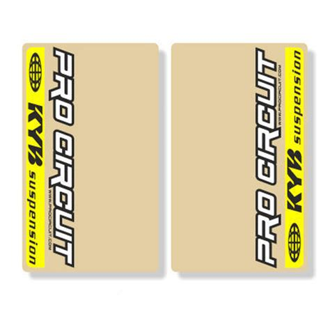Kyb Sticker stickers de fourche kayaba pro circuit fx motors