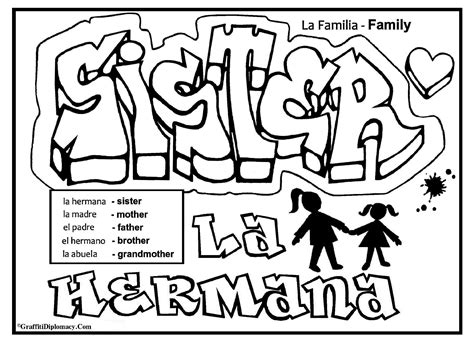 famous graffiti coloring pages english spanish free printable graffiti coloring page