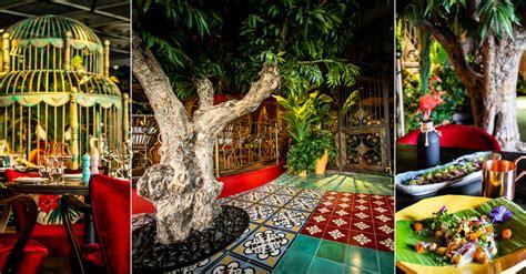 tropical jungle themed restaurant  pier