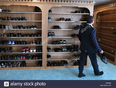 Mosque Shoe Rack by Moscow Russia 23rd Sep 2015 Shoe Racks At The Moscow Cathedral Stock Photo Royalty Free
