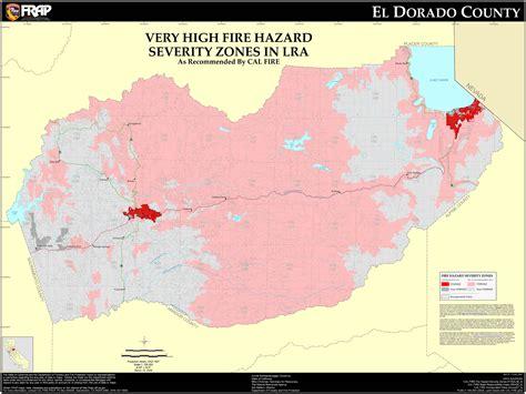 El Dorado County Property Records Cal El Dorado County Fhsz Map