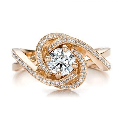 custom gold and engagement ring 100438