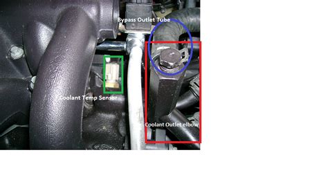 Location D Auto Mustang by Coolant Temperature Sensor Location 2011 5 0 Mustang