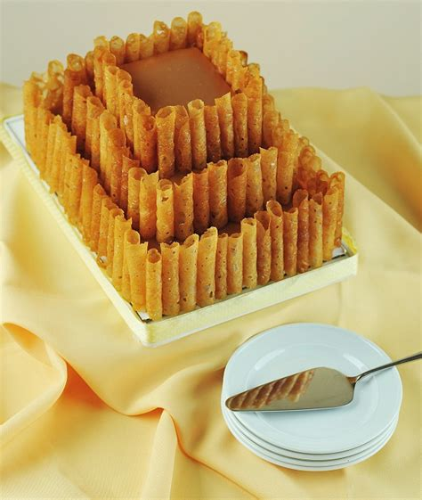 Chips Tuile by Caramel Butterscotch Cake With Honey Tuile Crisps Wedding