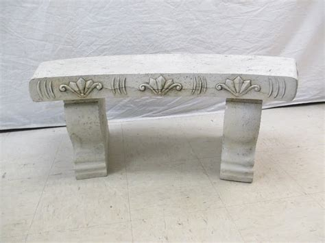 faux stone bench proprentalsny com long island and new york s best source
