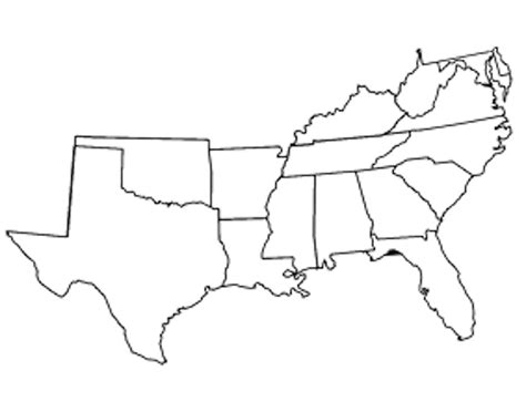 map of southeast usa obu map test southeast usa