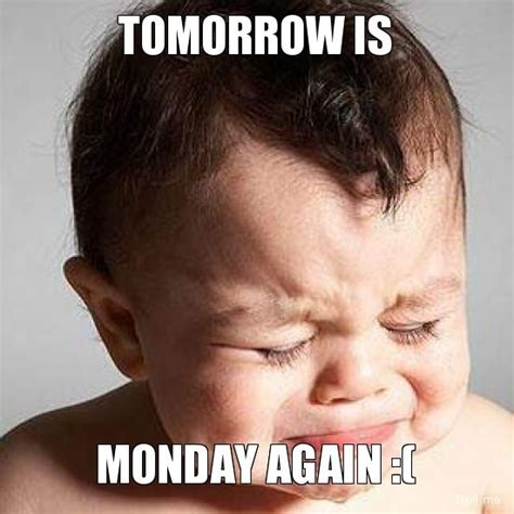 Monday Meme Images - tomorrow is monday images tomorrow is monday again