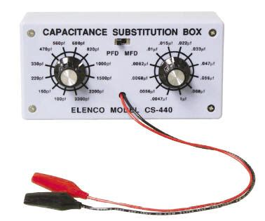 capacitor value substitution elenco kits
