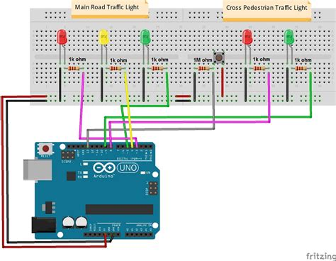 how to program lights traffic lights with a push button 171 osoyoo