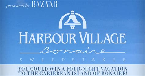Harpers Bazaar Sweepstakes - harper s bazaar wants to send you at harbour village beach club
