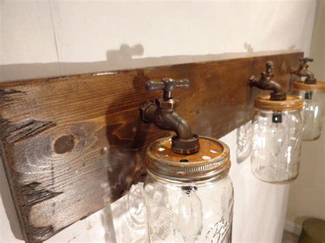 Rustic Bathroom Vanity Light Fixtures by Handmade Jar Vanity Light Fixture Country Primitive