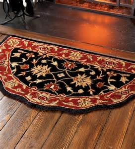 Hearth Rug Scalloped Wool Hearth Rug Hearth Rugs