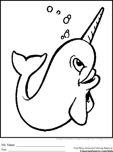 coloring page narwhal narwhal coloring pages mm pp
