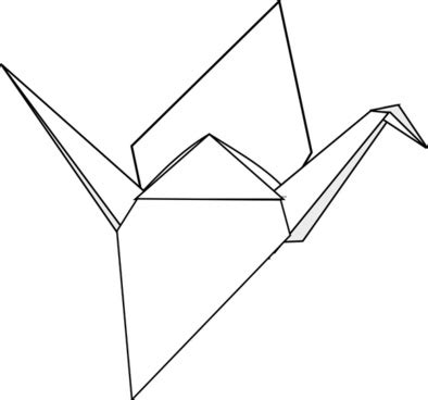 Origami Crane Template - origami crane vector free vector for free about