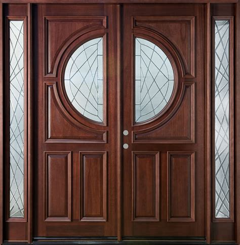 Exterior Door Wood Custom Solid Wood Entry Door Design With Narrow Window And Fiberglass Insert Ideas