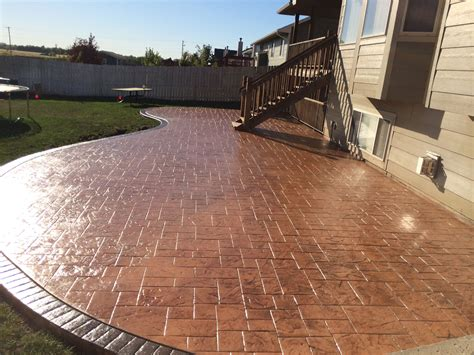 colored concrete patio sted concrete decorative concrete colored concrete