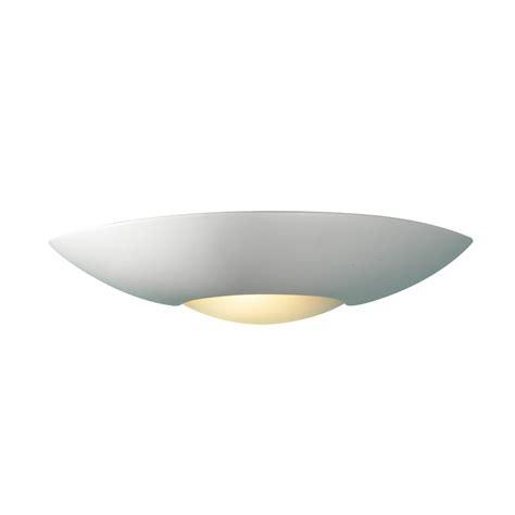 Ceramic Wall Lights Slice Satin Ceramic Paintable Wall Washer Light