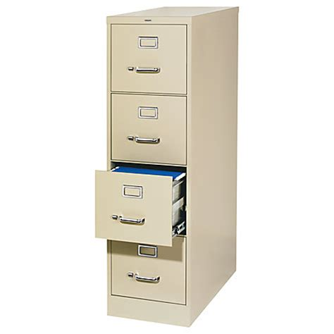 workpro 25 d 4 drawer vertical file cabinet 52 h x 15 w x