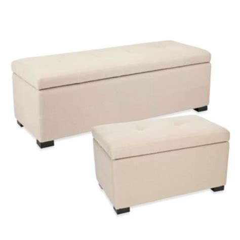 Buy Small Storage Ottoman From Bed Bath Beyond Small Ottoman Bench