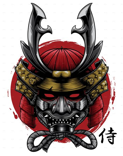 samurai head by douglast graphicriver