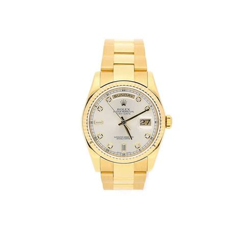 18ct yellow gold rolex day date 118238 miltons second