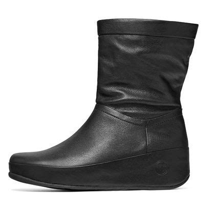 fitflop crush black leather boots