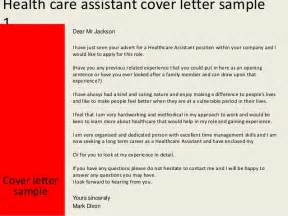 healthcare cover letter health care assistant cover letter