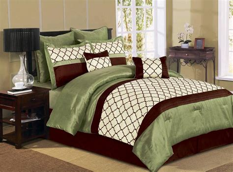 8 pcs luxury microfiber comforter set park ave queen king