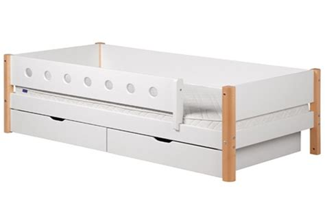 Bed With Rails by Single Bed White With Rails And Drawers