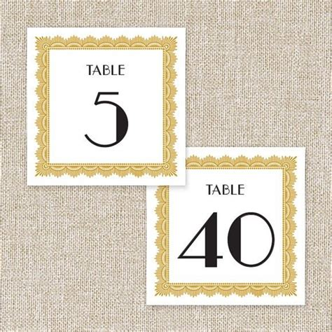 deco table numbers deco table numbers by basic invite