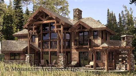hybrid timber log home plans timber frame hybrid log and