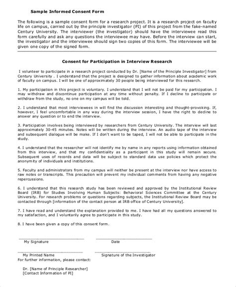 Letter Of Consent For Conducting Research Informed Consent Form Template Icebergcoworking