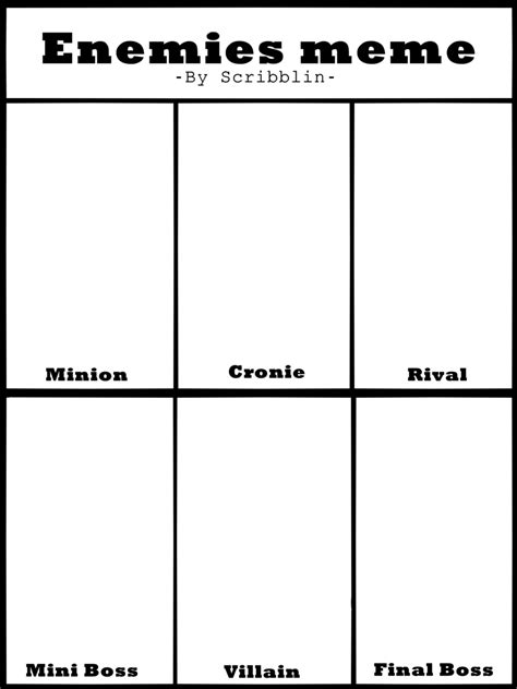 memes templates enemies meme template by scribblin on deviantart