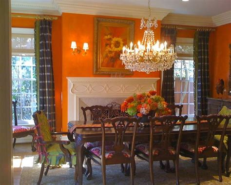 Orange Dining Room 81 Best Images About Orange Dining Room On Pinterest Trestle Table Orange Dining Room Paint
