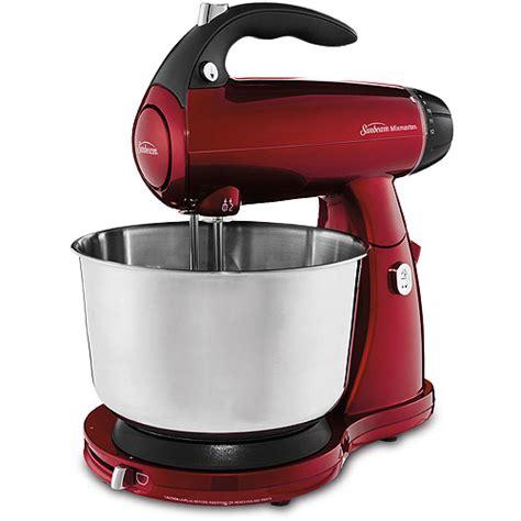 sunbeam mixmaster 4 qt stand mixer red walmart com