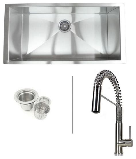 36 inch zero radius undermount single bowl kitchen sink