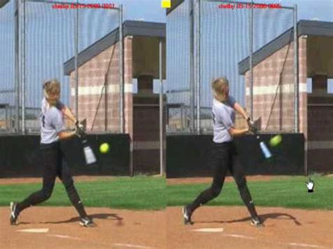 proper batting stance and swing fastpitch softball hitting lesson shoulder rotation