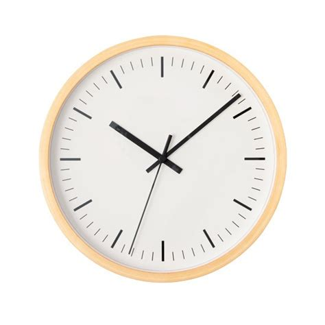 scandinavian wall clock scandinavian style beech clock by muji scandinavian