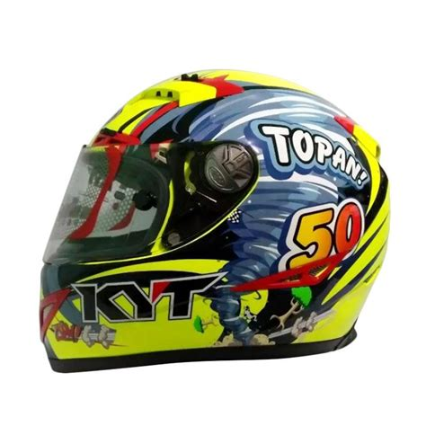 Helm Kyt Limited Edition jual kyt c5 limited edition topan helm motor yellow blue harga