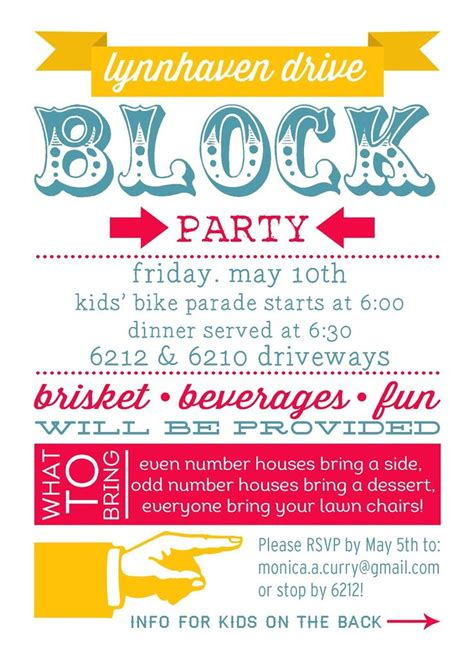 block flyer template 25 best ideas about block invites on neighborhood block foods