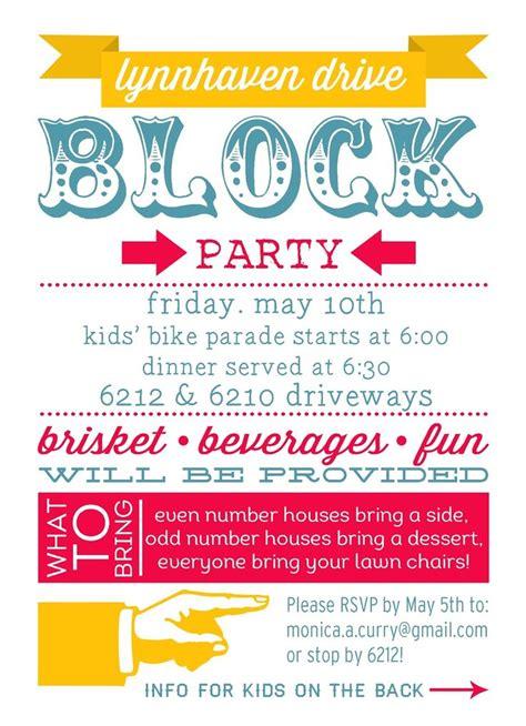 block template flyer 25 best ideas about block invites on neighborhood block foods