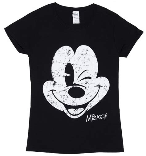 Tshirt Mickey Mouse Black s black disney mickey mouse vintage cracked print t
