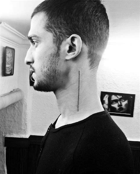 simple neck tattoos for men 50 simple line tattoos for manly ink design ideas
