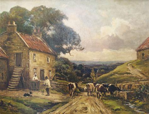 At The Cottage At The Cottage Door Earnest Higgins Rigg 1868 1947