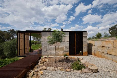 archier recycles 270 concrete blocks to create sawmill