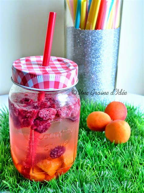 Detox Water Preparation by Detox Water Abricots Framboises Une Graine D Id 233 E