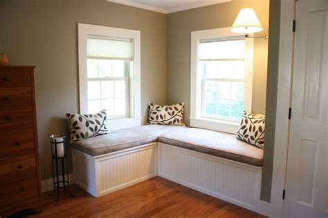 hand  custom window seat  upholstered cushions