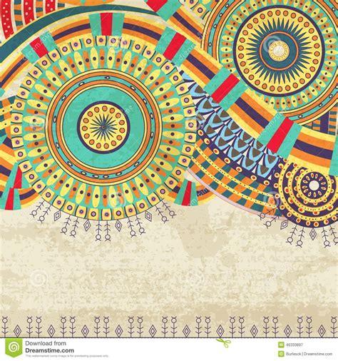 wallpaper ethnic design attractive ethnic background design stock vector