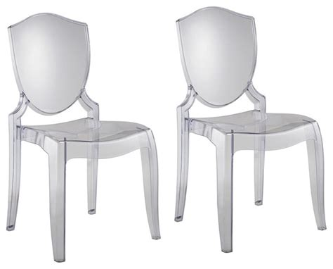 Modern Clear Dining Chairs Polycarbonate Clear Chair Modern Dining Chairs By Biz Chair